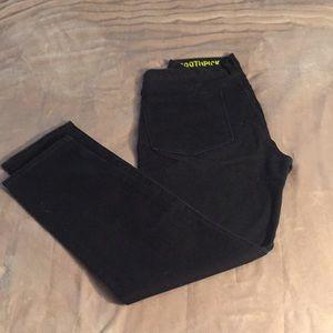 J. Crew toothpick black denim jeans- 30